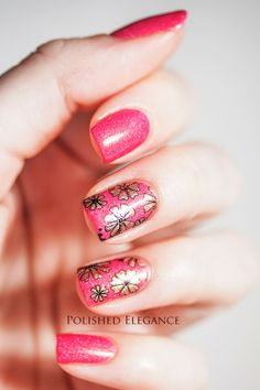 Pretty! Picture Polish Electric dream with stamping decals. | Polished Elegance