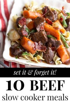 Beef Slow Cooker Meals via Tipsaholic.com #crockpot #beef #dinner #slow_cooker #recipe