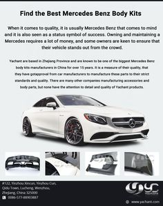 Yachant is China based company, here you can find the best quality carbon fibre Mercedes Benz body kit with unbeatable prices. To know more or to order something visit us.