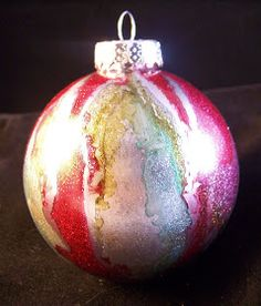 Paper Squirrel: Tutorial: Alcohol Ink Ornaments