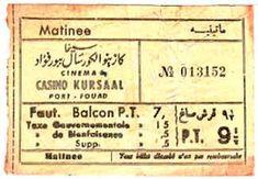 old german cinema ticket