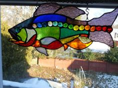 Rhode Island Rainbow Trout Stained Glass Art