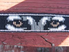 Native American Style Beaded Wolf Eyes by NearlyNativeBeading
