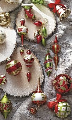 Bursting with holiday cheer, our Under the Mistletoe 60-Piece Ornament Collection balances the classic sophistication of handmade glass with the whimsy of chic plaids, gemstones and sequins.