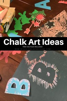 Chalk Art Ideas for kids with Free SVG File! #freesvg #cutfile #chalkart #kidscraft #svg #mydesignsinthehchaos #diy