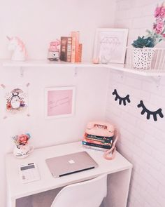 New Bedroom Vintage Diy Offices Ideas Study Room Decor, Cute Room Decor, Home Office Furniture, Home Office Decor, Home Decor, Furniture Plans, Kids Furniture, Furniture Assembly, Luxury Furniture