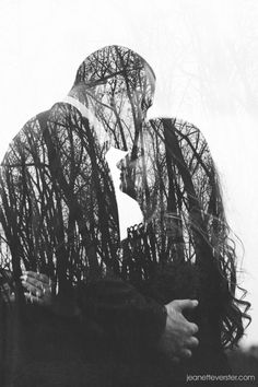 Double exposure in camera. Calli and Michael's engagement photo session - Jeanette Verster Photography