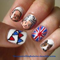 Jubilee nails Baby George, Prince Phillip, Cool Nail Art, Corgi, Royalty, Nail Polish, Royals, Corgis, Polish