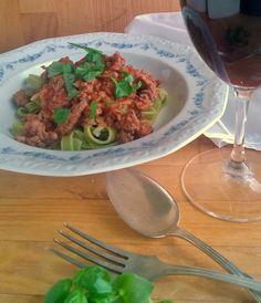 Sydänystävällinen spagetti Bolognese