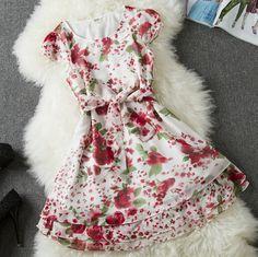 Sleeveless Floral Dress AX092202ax