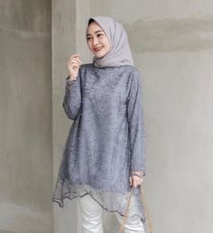 Modest Fashion Hijab, Casual Hijab Outfit, Casual Outfits, Fashion Outfits, Ootd Hijab, Kebaya Modern Hijab, Kebaya Hijab, Kebaya Brokat, High Street Fashion