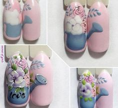 Nail Designs and Ideas 2019 Any lady who cares about how she looks thinks what manicure will best fit the chosen outfit and what types of nails are in the trend at a time. Christmas Nail Designs, Nail Designs Spring, Cool Nail Designs, Manicure Nail Designs, Manicure E Pedicure, Nail Swag, Stylish Nails, Trendy Nails, Spring Nails