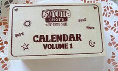Calendar Stamp Set by MylittleshopFinds on Etsy