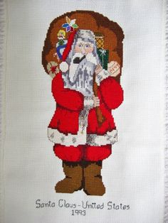 Santa Claus - United States Santa.  Completed in 1993