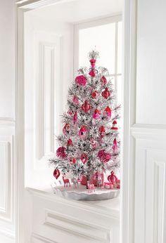 bianco con decori rosa