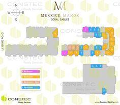 Merrick Manor Coral Gables site plan. Coral Gables floor plans.
