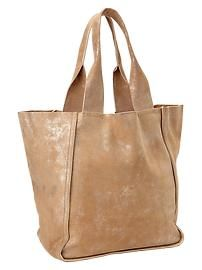 Large leather tote - Gap