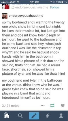 if i ever see him im gonna call him josh dun and pretend that i genuinely think hes josh //// o my gods this is so great