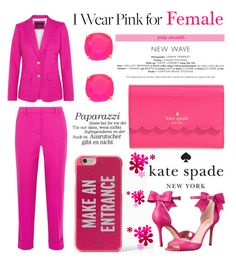 """""""I Wear Pink for Female: 06/10/16"""" by pinky-chocolatte ❤ liked on Polyvore featuring J.Crew and Kate Spade"""