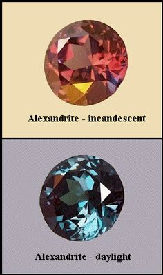 Alexandrite. Click Reference Library at the bottom to look at more stones. Wealth of information if you're wanting to start a collection of gemstones.