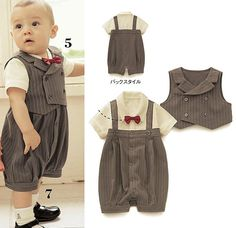 cute baby boy clothes | ... arrival cute baby boy's clothes set(romper+vest) for summer.baby wear