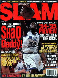 SLAM 3: Orlando Magic Shaquille O'Neal appeared on the cover of the third issue of SLAM Magazine (1995).