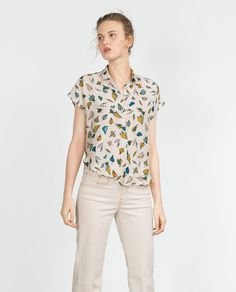 Image 1 of SILK BLOUSE from Zara