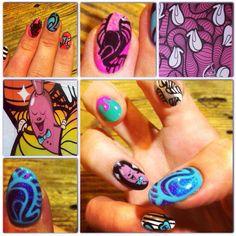 Insa inspired nailart #nails #nailspiration #nailporn #nailswag #nailart #nails #nailsart #nailedit #nail #manicure #mani #insa #insaart #grafiti #graphiti #graffiti