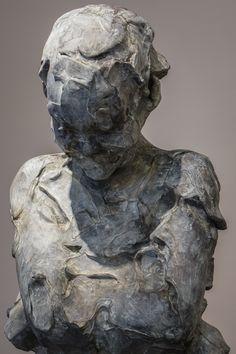 nu féminin sans titre - bronze - 105 cm par Catherine Thiry