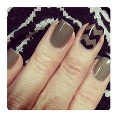 Chevron accent nail.  Julep - Lisa with Brandt chevron.
