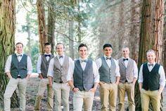 groomsmen in vests - photo by Anthem Photography http://ruffledblog.com/earthy-pacific-northwest-wedding