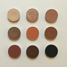 MAC dupes for the Kyshadow palette - Brule, all that glitters, soft brown - woodwinked, rule, saddle - brown script, ground brown, carbon
