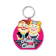 """The Custom Branded 2"""" Rubber Softie Key Tag includes up to 6-colors on a 2-D tag with split ring. Each piece is individually poly-bagged. Backside imprint available when customizing."""