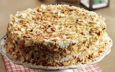Tourta-amygdalou Almond Dessert Cake recipe in english Dessert Cake Recipes, Sweets Cake, Party Desserts, Cupcake Cakes, Cupcakes, Greek Sweets, Greek Desserts, Greek Recipes, Greek Cake