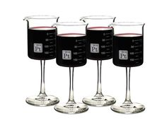 Scientific precision wine glass laboratory borosilicate glass Periodic Tableware Beaker Wine glassware science gift present wedding birthday ptware nerd geek