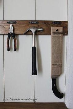 良く使う工具をひっかけて収納しよ~♪