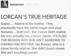 I don't...I don't know! If it's true than, omg Lorcan why do you have a crush on your mom!