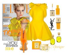 """""""Light color."""" by nurinur ❤ liked on Polyvore featuring Amaya Arzuaga, Liliana, Yves Saint Laurent, Effy Jewelry and Acqua di Parma"""