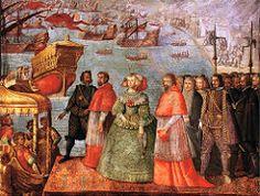 EMBARCO DE DOÑA MARIANA DE AUSTRIA EN EL PUERTO DE FINALE LIGURE EN 1649
