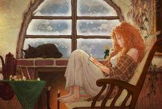 Lesen ist eine Art des Glücks, das nur für freie Geister erreichbar ist, die in der Lage sind, ihre Sorgen abzulegen,um in andere Welten zu tauchen.