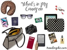 Whats in my Carry-on bag | Traveling Chic blog | travel tips researched by http://www.iconhotel.eu/en/contact/map