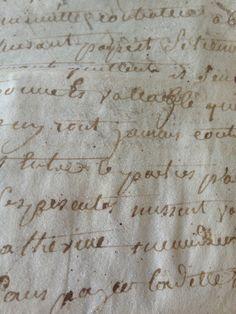 1600's Parchment Letter in Sepia-RARE FleaingFrance