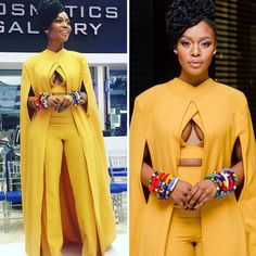 19 Ideas Engagement Brunch Outfit Winter For 2019 Prom Jumpsuit, Formal Jumpsuit, Jumpsuit Outfit, Yellow Jumpsuit, Brunch Outfit, Ghanaian Fashion, African Fashion, Moda Plus Size, Outfits