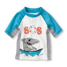 -Pair with our shark swim trunks for cool surfin' style!