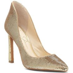 76b83a4cbf07 Jessica Simpson Women s Parma Sequined Pointy Pumps (285 PEN) ❤ liked on Polyvore  featuring shoes