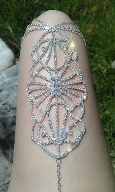 Avant Garde LegLace Body Jewelry by heartSunshine on Etsy by tracey