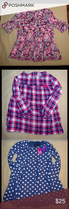 Girls top bundle 4 little girl tops the first one is size 18M brand is Oshkosh the second one is size 18M brand is Carters third top is size 18M brand is Cynthia Rowley fourth top is a sweater size 18M brand is Carters all in good condition :) Shirts & Tops