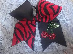 Texas Sized Red & Black Zebra with Bling Cherry, Cheer Bow,Game Day,Cheerleader Bow Games, Camping Crafts, Cheer Bows, Red Black, Cheerleading, Baby Items, Weird, Cherry, Texas