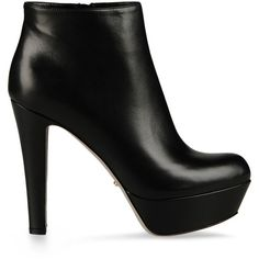 Sergio Rossi Miladys Booties ($430) ❤ liked on Polyvore featuring shoes, boots, ankle booties, heels, sapatos, botas, black, high heel booties, heel boots and booties
