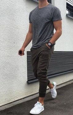 Sporty Grey outfit for Short  Men